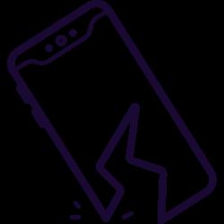 phone, cell, broken, drop, breaking icon icon
