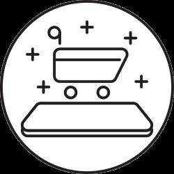 phone, ecommerce, cart, smartphone, shopping icon icon