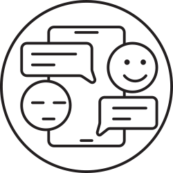 phone, message, smartphone, emoji, chat icon icon