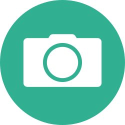 photo, photography, shutterbug, camera, green, photographer, circle icon icon
