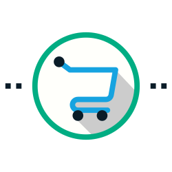 physical, cart, protective, distance, keep, social, shopping icon icon