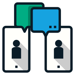 physical, communication, phone, distance, video, conference, social icon icon