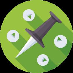 pin, marker, navigation, pointer icon icon