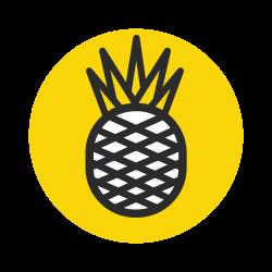 pinaple, healthy, yellow, fruit, diet, vegetable, kitchen icon icon