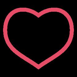 pink, heart, love, valentine, valentine's day, red icon icon