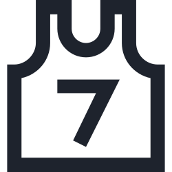play, basketball, shirt, seven, game, wear, team, sport icon icon