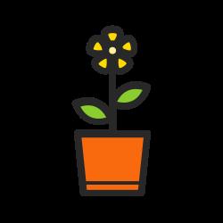 pot, flower, floral, plant, garden, nature, gardening icon icon