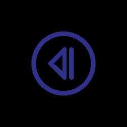 previous, blue, back, backward, direction icon icon