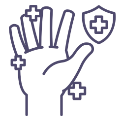 protected, your, wash, hand, shield, health icon icon