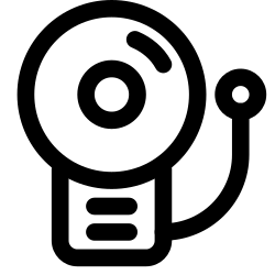 retro, security, and, protection, alarm icon icon