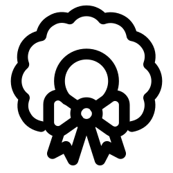 ribbon, christmas, garland icon icon