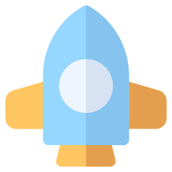 rocket, spaceship, science, technology icon icon