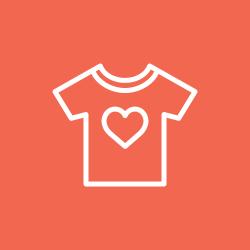 romance, heart, fashion, like, shirt icon icon