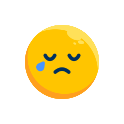sad, emotion, smiley, crying, emoji, emoticon icon icon