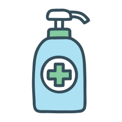 sanitizer, gel, alcohol, hygiene, soap, clean, hand icon icon