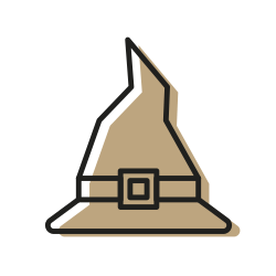 scary, magic, monster, sweet, halloween, witch, hat icon icon