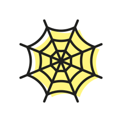 scary, web, sweet, halloween, spider, grose, spiderweb icon icon