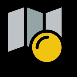 search, map, explore, location, magnifier icon icon