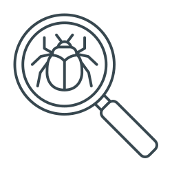 seo, search, bug, bug search, magnifier, magnifying icon icon