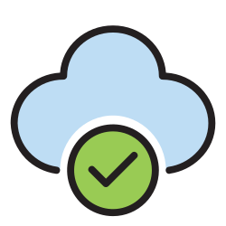 server, triumph, succeed, data, cloud, success, storage icon icon