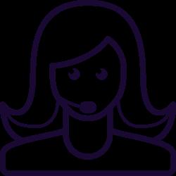 service, mobile, support, call, avatar, operator icon icon