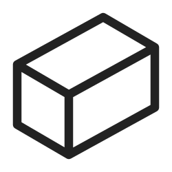 shape, geometry, line, form, graphic, figure, cuboid icon icon