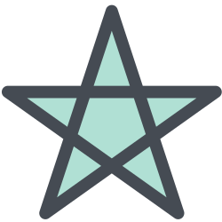 shooting star, star, rising star, office, general, thin, starred icon icon