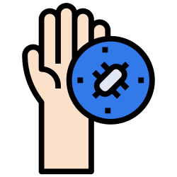 sickness, and, medical, coronavirus, bacteria, hand, healthcare icon icon