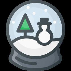 snowbulb, toy, ornament, christmas, snow icon icon