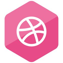 social media, colored, media, high quality, social, dribbble, hexagon icon icon