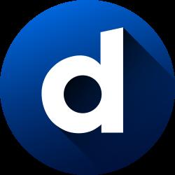 social media, dailymotion, media, high quality, social, circle, long shadow icon icon