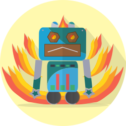 space, angry, robotic, metal, robot, mechanical, android, technology, robot expression, mascot icon icon