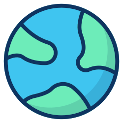 space, earth, world, science, astronomy, galaxy, planet icon icon