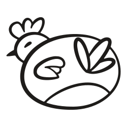spring, hen, back, animal, chicken, easter, bird icon icon