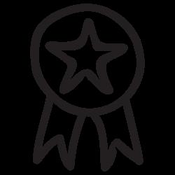 star, badge, award, awards, ribbon, medal, achievement icon icon