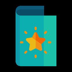 star, light, greeting, send, bright, card icon icon