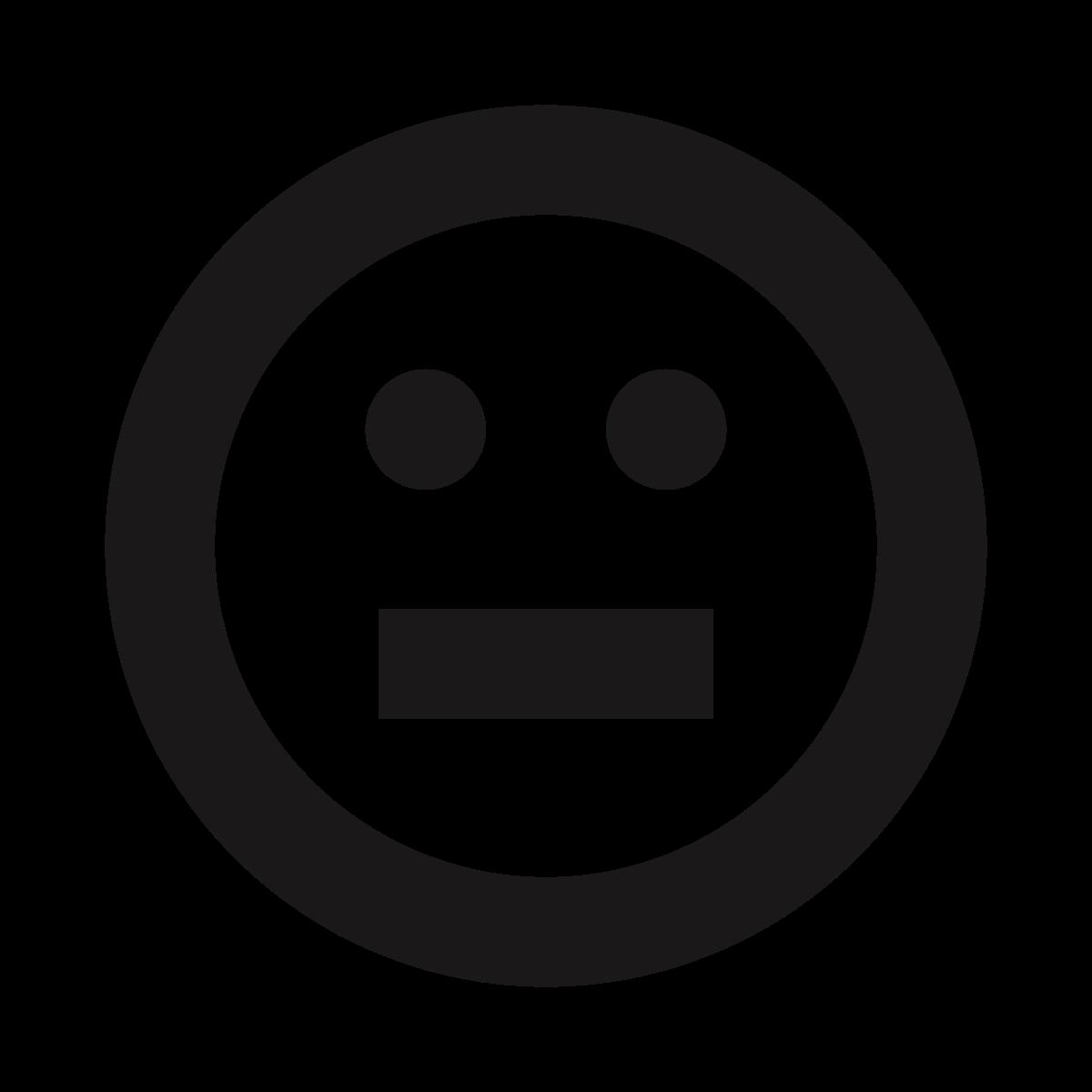 stare  uneasy  straight face  blank  thick lines  emoticon  emojis icon icon