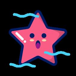 starfish, character, inkcontober, deep, water, animal icon icon