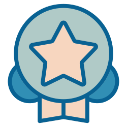 strategy, business, advertisement, advertising, marketing, quality, award icon icon