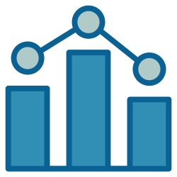 strategy, business, graph, chart, marketing, advertising, statistic icon icon