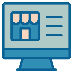strategy, shop, online, business, advertising, marketing, ecommerce icon icon