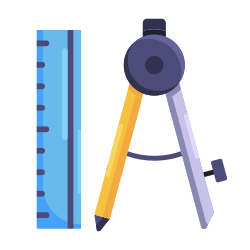 study, drawing compass, learning, school, education, book icon icon