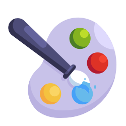 study, learning, school, education, painting, drawing brush icon icon