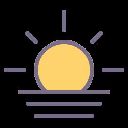 sunset, element, sunrise, weather, forecast, climate, sun icon icon