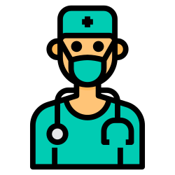 surgeon, avatar, medical, doctor, mask icon icon