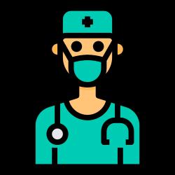surgeon, avatar, medical, doctor, mask icon icon