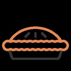 sweet, autumn, dessert, food, pumpkin, thanksgiving, pie icon icon