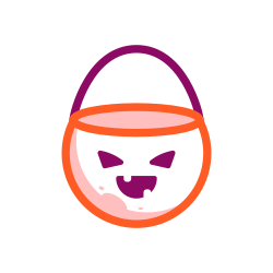 sweet, halloween, scary, candy, bucket, dessert icon icon