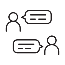 talking, chat, online, message, speaking, meeting, people icon icon