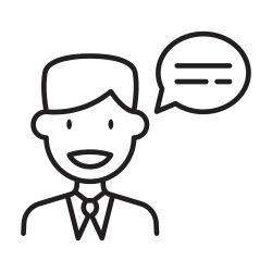 talking, speaking, man, meeting, presentation, business, discussion icon icon